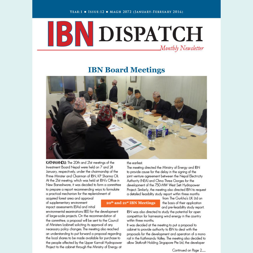 IBN Dispatch 12